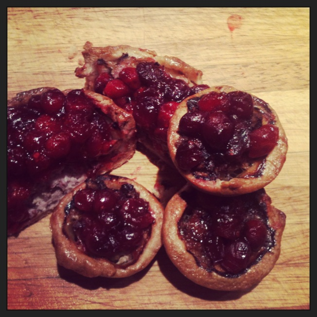 Pork and cranberry pies